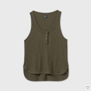 NWT Olive Green Thermal Tank Top